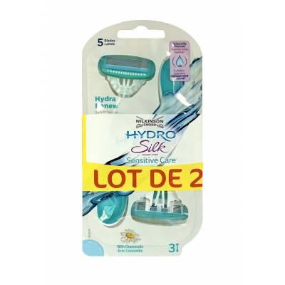 Женские одноразовые станки Wilkinson Hydro Silk Sensitive Care (3 +3) 01611