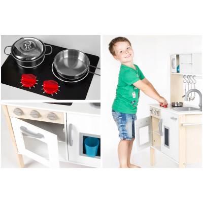 Большая деревянная кухня Kinderplay для детей + led