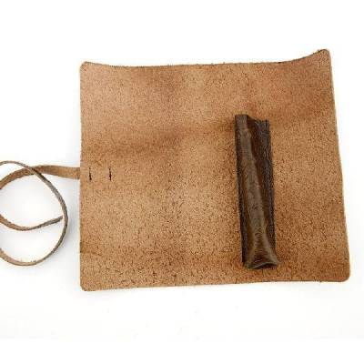 Дорожный чехол для классической бритвы из натуральной кожи 01161