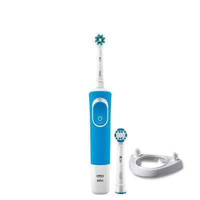 Зубная щетка Oral-B Vitality 100 Crossaction Blue 2 нас. + подставка рожок ЕС