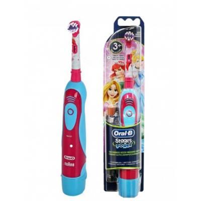 Детская зубная щетка на батарейках Braun Oral-B Stages Power DB4 Princess Принцессы съёмная насадка 01236