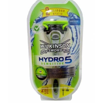 Бритвенный станок Wilkinson Sword Hydro 5 Sensitive с подставкой (3 кассеты) W00782