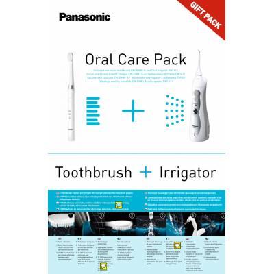 Набор для ухода за полостью рта Panasonic: звуковая зубная щетка DM81 + ирригатор EW1411