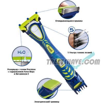 Станок бритвенный Wilkinson Sword HYDRO 5 Groomer 3 картриджа W0092