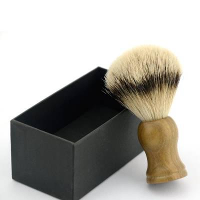 Помазок для бритья с ручкой из сандалового дерева (светлый) NR0028
