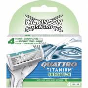 Wilkinson Sword (Schick) Quattro Titanium Sensitive 4 шт W0030