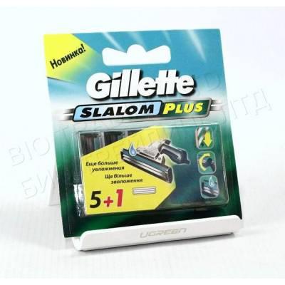Сменные кассеты Gillette Slalom Plus Original (5+1 шт) G0030